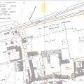 Sur le plan cadastral, la délimitation du domaine cédé par les Assomptionnistes au Collège Dominique Savio, avec le château(A) (démoli en 2001) et les bâtiments du collège (B, C et D). La section « parc boisé » le long de la rue de Verlinghem accueillera plus tard les locaux du Lycée Maria Goretti - Collège Dominique SAVIO